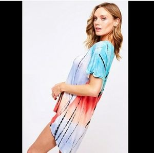 New arrival!! High low bright colored tie dye top